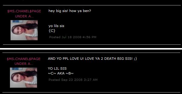 You can see the two Myspace messages that mention all of this here.